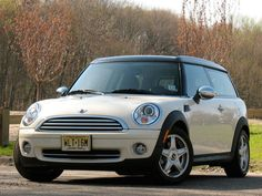 Own a cream and pink Mini cooper!
