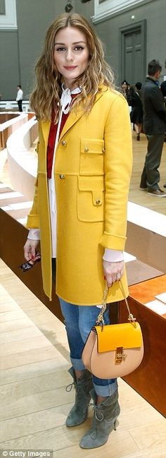 Olivia Palermo - Chloe Fall 2015 Front Row  - March 8, 2015 #PFW