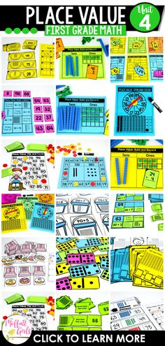 With 32 Math Centers and 95 NO PREP Practice pages, there are plenty of opportunities to learn and master Place Value! First Grade Math, Grade 1, Core Learning, Tens And Ones, Place Values, Math Centers, Have Fun, Student, Activities