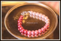 Bracelet Pink Ombre Glass Pearls Breast Cancer by PickleStiksandCo, $20.00