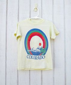 Vintage T shirt Kids Colorado 80's Children's by kerrilendo