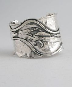 Boho silver ring