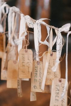 Charming Summer Camp Wedding from Carrie King - wedding escort card idea