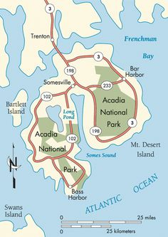 Another map of Acadia.  This one lists things to do in the area.  http://www.roadtripusa.com/routes/greatnorthern/maine/grn_acadia.html