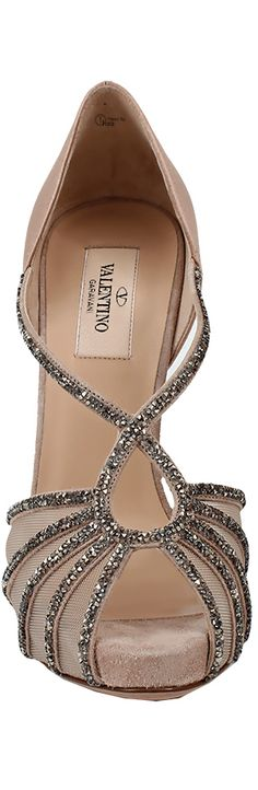Valentino ● Platform Sandal With Diamonds