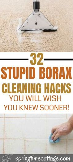 cleaning household Did you know that borax was an excellent cleaner which kills germs, destroys odors, get rid of stains and the best part is that it is easy to use. Here are some borax cleaning hacks that you know right now!