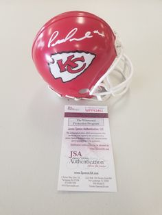 9438075bdaf Kansas City Chiefs Signed Autographed Patrick Mahomes Mini Helmet JSA  Kansas City Chiefs, Football Helmets