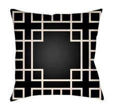 Buy the Surya Light Blue Direct. Shop for the Surya Light Blue Litchfield Wide Square Geometric Pattern Polyester Outdoor Accent Pillow Cover and save. 20x20 Pillow Covers, Throw Pillow Cases, Throw Pillows, Geometric Pillow, Geometric Patterns, Black Bedding, How To Make Pillows, Ebay, Vibrant Colors