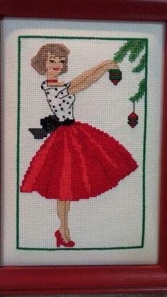 Vintage lady cross stitch