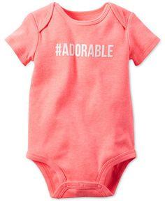 OshKosh Keyhole Cotton Bodysuit One Piece Gift Baby Girls Size  6 9 12 Months