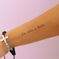 La Vita e Bella Temporary Tattoo  Life is by AwesomeAdjustments