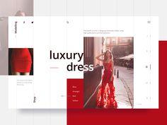 Fashion Web UI designed by Dehtiarenko Nina. Web Ui Design, Web Design Company, Dashboard Design, Design Design, Ui Design Inspiration, Design Trends, Web Layout, Layout Design, Fashion Website Design