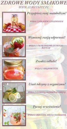 Zdrowe wody smakowe na Stylowi.pl Good Healthy Recipes, Clean Recipes, Raw Food Recipes, Healthy Food, Health Eating, Health Diet, Healthy Cocktails, Healthy Mind And Body, Healthy Water