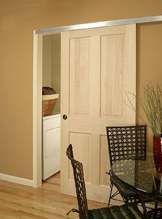 "Wall mount kit to make any stock door into a ""barn style"" (this is an alternative to making a pocket door)"