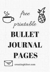 Weekly Free Printable Bullet Journal Pages