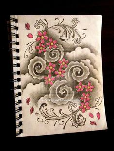 Japanese style cherry blossom tattoo background