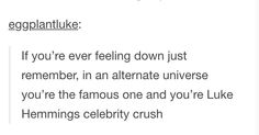 I took a quiz who my soulmate was & it said his name is Luke so I'm guessing it's luke Hemmings of course