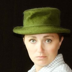 Vintage Wool Hat by Henry Pollak Co in Green by undoneeclectic,