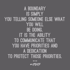 Learning about Boundaries...