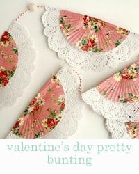 valentine's day pretty bunting