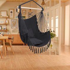 Hammock In Bedroom, Hanging Hammock Chair, Hammock Stand, Swinging Chair, Chair Swing, Garden Hammock, Hanging Rope, Crochet Hammock, Macrame Chairs
