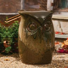 Ceramic Wise Owl Stool by Gifted Living, http://www.amazon.ca/dp/B00E40ZEX0/ref=cm_sw_r_pi_dp_zMuetb1T8HSQF