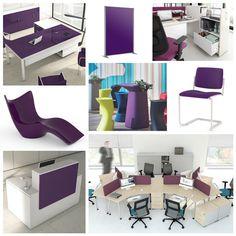 Le violet 💜💜💜 la couleur par excellence des rêveurs 🔮🔮🔮 Cette nuance symbolise la délicatesse, suggère la créativité, et développe l'intellect. Ayant des effets apaisants sur l'esprit, elle nous permet de réfréner des colères ou des angoisses. Donc, les mobiliers violets correspondent parfaitement au bureau, même à l'espace de détente 👍👍👍 Cependant, le violet reste une couleur difficile à marier. 😓😓😓 #moodboard #violet #purple #workstation #interior #design #creation #inspiration