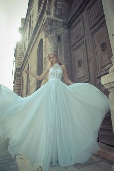 high neck wedding dress - to die for