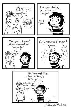 Real girls comics strips by sarah anderson Sarah Anderson Comics, Sara Anderson, Cute Comics, Funny Comics, Funny Quotes, Funny Memes, Hilarious, Jokes, Sarah's Scribbles
