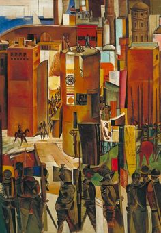 Wyndham Lewis - The Surrender of Barcelona : museum Wyndham Lewis, John Minton, Vancouver Art Gallery, Tate Gallery, English Artists, Art Database, Art Uk, World War Two, Oil On Canvas