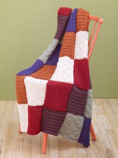 Loom Knit Sampler Afghan