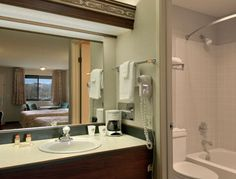 Bathroom at the Days Inn Auburn in Auburn, Washington