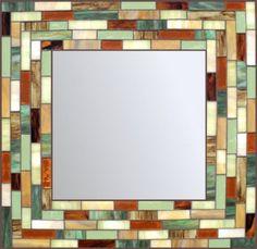 Stunning stained glass mosaic mirror from (Pamela Walker, Omaha, NE-USA) Mosaic Wall Art, Mirror Mosaic, Mosaic Glass, Glass Art, Stained Glass Mirror, Stained Glass Angel, Window Glass, Mosaic Projects, Stained Glass Projects
