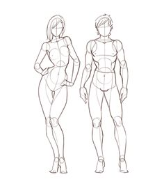 Drawing the human figure | Drawing in Photoshop via PinCG.com // I've always been terrible at drawing poses, so this helps a lot