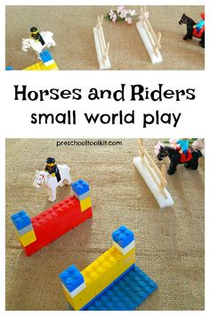 Create an equestrian course for horses and riders with this small world activity. Build walls and fences with LEGO® bricks and craft sticks. Craft Stick Crafts, Craft Sticks, Third Grade Science, Physics Classroom, Small World Play, Stem For Kids, Developmental Psychology, Classroom Displays, Learning Through Play