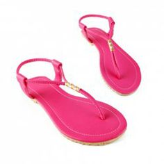 Laconic Casual Womens Sandals With PU Leather Candy Color and Flip-Flop Design