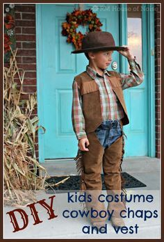 House of Noise... I mean boys.: DIY: Kids Costume - Cowboy Chaps and Vest