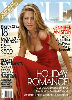 Vogue, December 2008 from Jennifer Aniston's Best Magazine Covers | E! Online All this and an 8-karat ring, too.