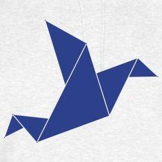 origami bird Hoodies