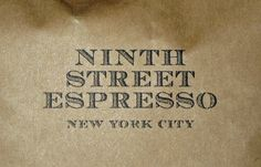 Ninth Street Espresso - Chelsea Market, 9th Ave at West 15th St. Great branding.