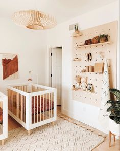 25 Amazing Nursery Design - Are you looking for some great nursery room ideas for your baby? Almost every parent wants to give the best to their baby. So naturally they look for . Nursery Twins, Nursery Room, Boy Room, Apartment Nursery, Boho Nursery, Small Twin Nursery, Wood Wall Nursery, Accent Wall Nursery, Surf Nursery