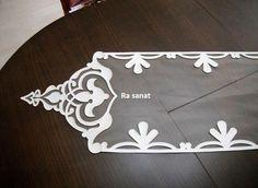 Deri ve tül ile kombinlenmiş dekoretif örtü