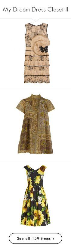 """My Dream Dress Closet II"" by sundaygray ❤ liked on Polyvore featuring dresses, vestidos, zuhair murad, vestiti, transparent dress, beaded cocktail dresses, tiered dresses, beige dress, sleeveless cocktail dress and women"