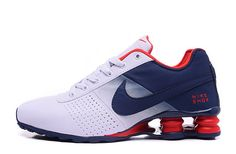 Nike Shox Deliver Men s Tennis Shoes white blue red   Clearance Nike Air  Max f280140ff