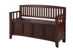 Linon Home Decor Cynthia Chinese Hardwood MDF Plywood Storage Bench in Walnut - The Home Depot Plywood Storage, Wooden Storage Bench, Mdf Plywood, Storage Bench Seating, Entryway Bench Storage, Entryway Furniture, Bench Furniture, Bench With Storage, Lid Storage