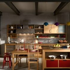 Cucina in stile post-industriale