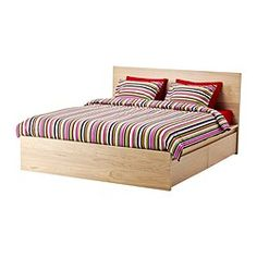 MALM Bed frame, high, w 4 storage boxes - Queen, Sultan Luröy | IKEA $549 (backup option?)