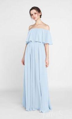 Bohemian Style Off Shoulder Full Length Bridesmaid Dress TBQP388#wedding #weddinginspiration #bridesmaids #bridesmaiddresses #bridalparty #maidofhonor #weddingideas #weddingcolors #tulleandchantilly