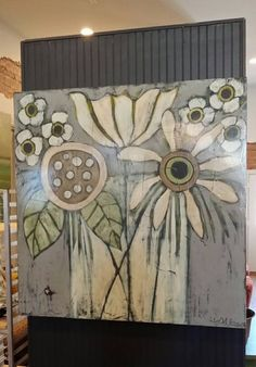 Cecel Allee Artist, my favorite artist Color inspuration Art Floral, Abstract Flowers, Abstract Art, Painting Flowers, Painting & Drawing, Painting Walls, Painting Inspiration, Wood Art, Flower Art