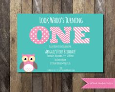 Owl First Birthday Invitation, Owl Birthday Invitation, First Birthday… Owl First Birthday, Owl Birthday Parties, Baby Birthday, Birthday Ideas, Birthday Bash, Owl Birthday Invitations, Party Invitations, Little Mac, Invitation Design